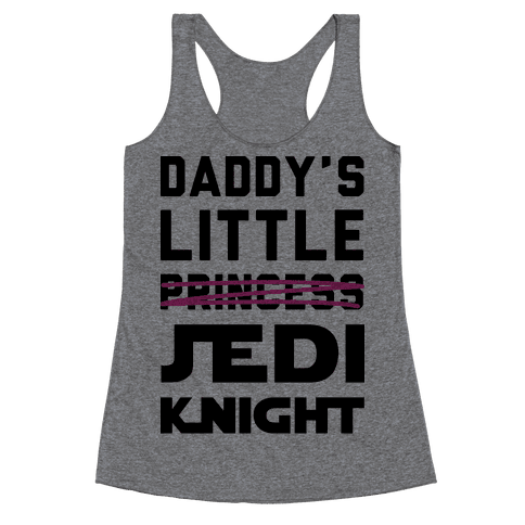 Daddy's Little Jedi Knight Racerback Tank Top