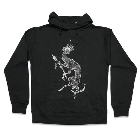 Deer God Stars Hooded Sweatshirt