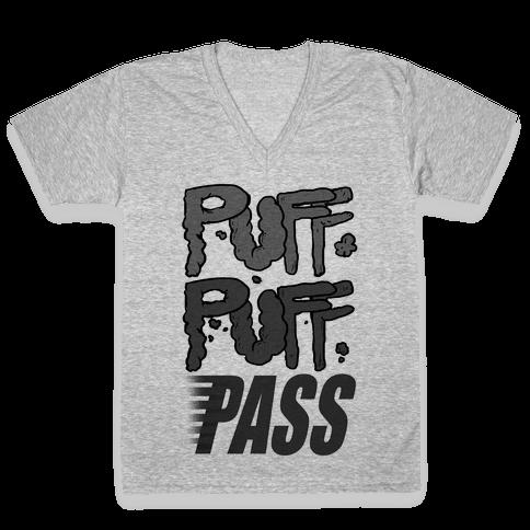Puff Puff Pass V-Neck Tee Shirt