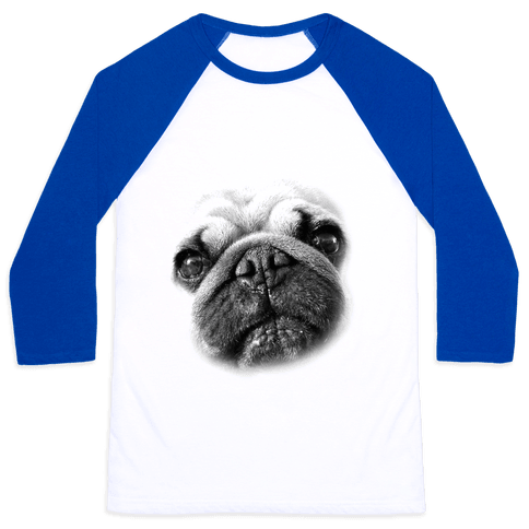 Pug Face Baseball Tee