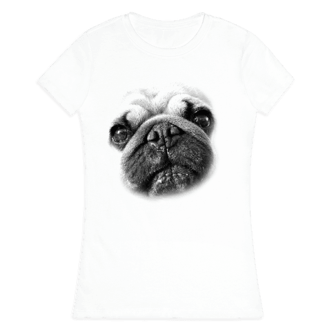 Pug Face Womens T-Shirt