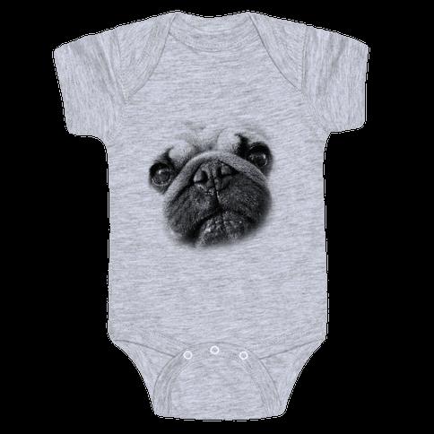 Pug Face Baby Onesy