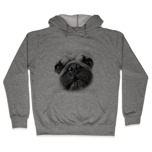 Pug Face Hooded Sweatshirt