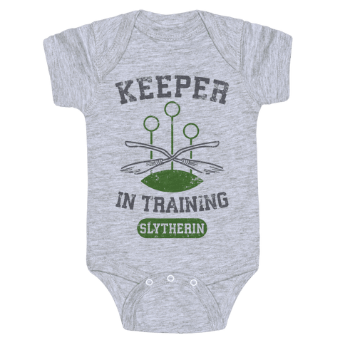 Keeper In Training (Slytherin) Baby Onesy