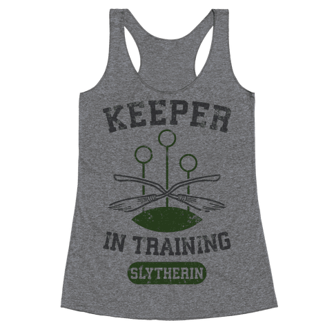 Keeper In Training (Slytherin) Racerback Tank Top