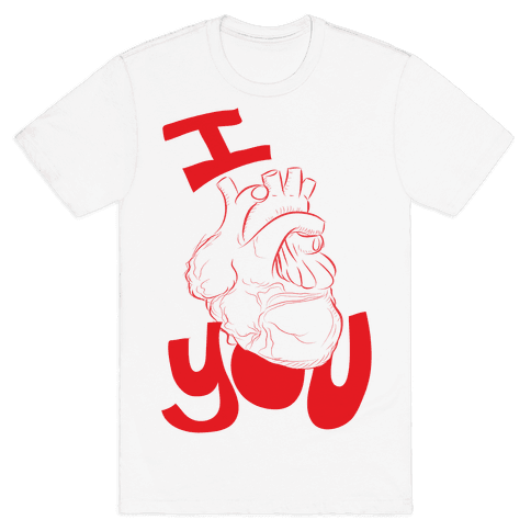 I heart you Mens T-Shirt