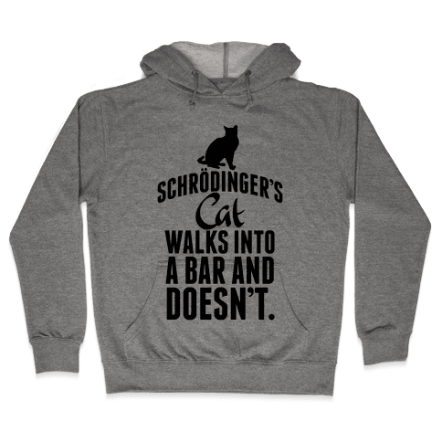 Schrdinger's Cat Walks Into A Bar... Hooded Sweatshirt