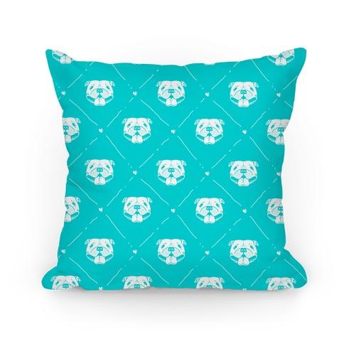 Pit Bull Love Pattern Pillow