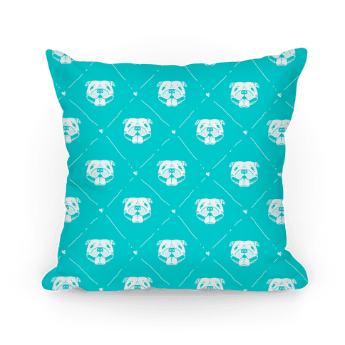 Pit Bull Love Pattern Pillow