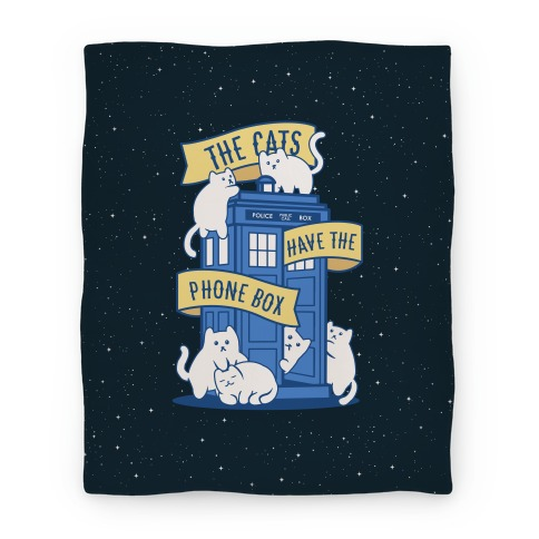 The Cats Have the Phone Box! Blanket