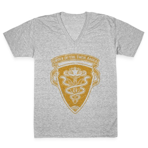 Order of the Twin Adder Grand Company Sigil V-Neck Tee Shirt