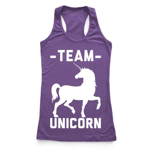 Team Unicorn Racerback Tank Top