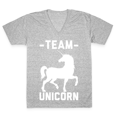 Team Unicorn V-Neck Tee Shirt
