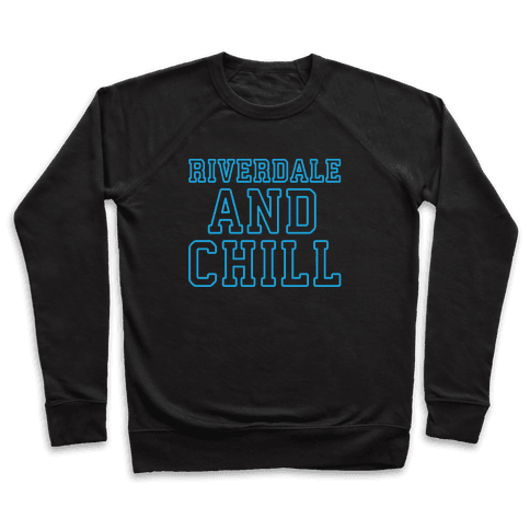 Riverdale and Chill Parody White Print Pullover