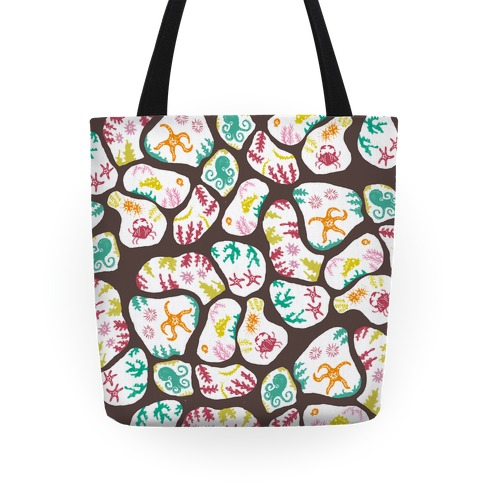 Ocean Tide Pool Animals Pattern Tote