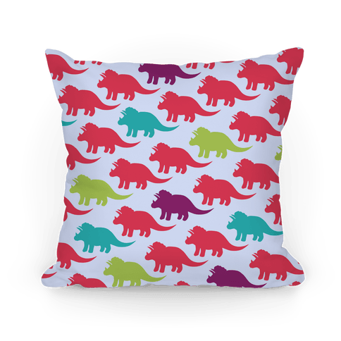 Triceratops Dino Pattern Pillow