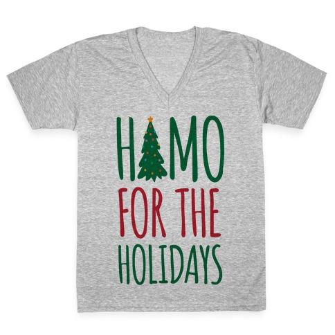 Homo For The Holidays V-Neck Tee Shirt