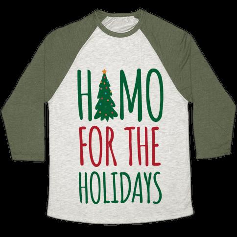 Homo For The Holidays Baseball Tee