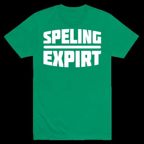 Spelling Expert  Mens T-Shirt