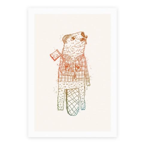 Beaver Lumberjack Poster