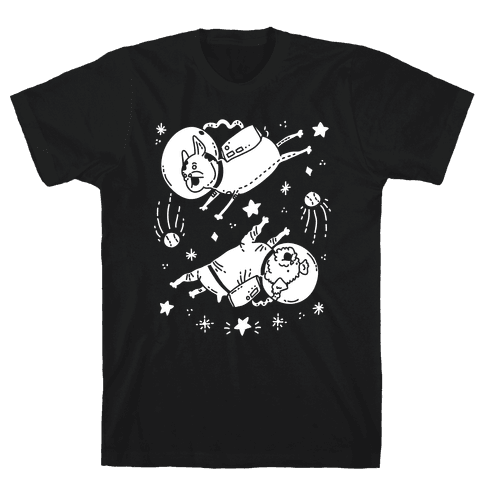 Dogs In Space Mens T-Shirt