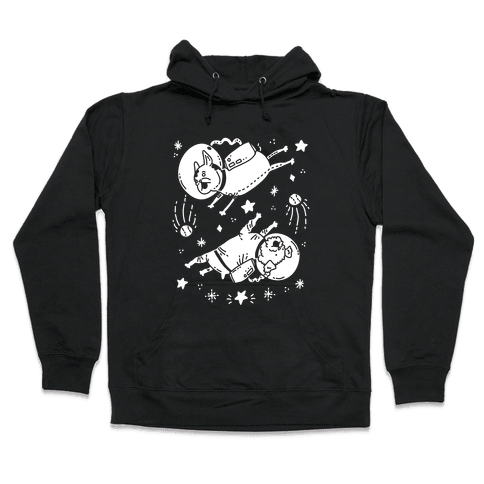 Dogs In Space Hooded Sweatshirt