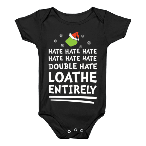 Loathe Entirely Baby Onesy