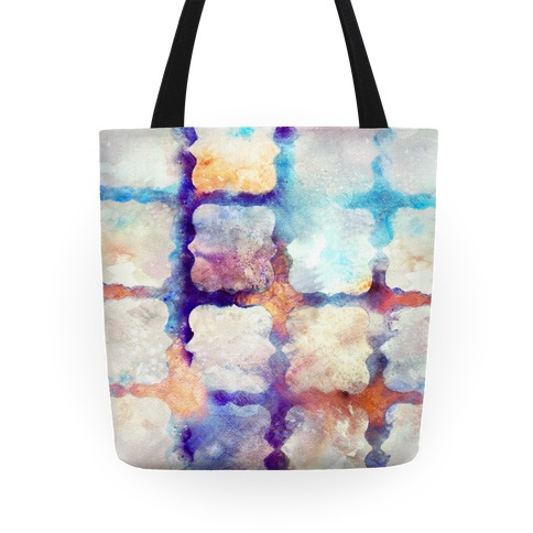 Watercolor Rainbow Texture Pattern Tote Tote