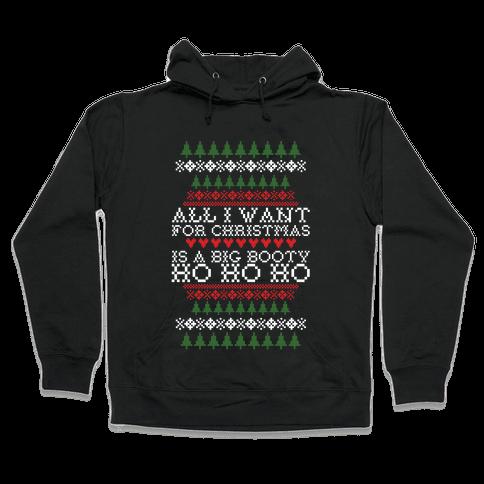 Big Booty Christmas Tank Hooded Sweatshirt