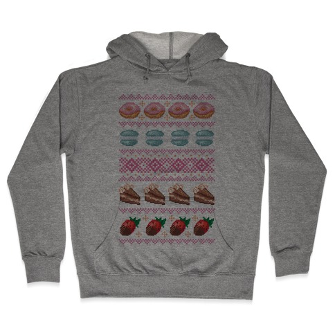 Ugly Dessert Sweater Pattern Hooded Sweatshirt