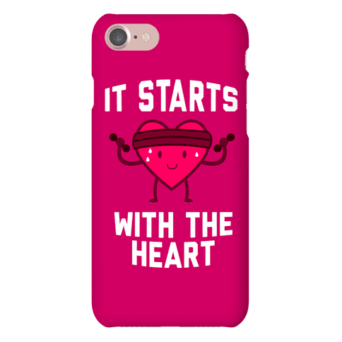 It Starts With The Heart Phone Case