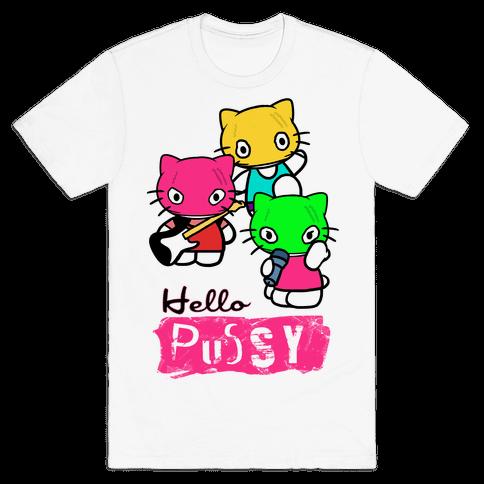 Hello Pussy Mens T-Shirt