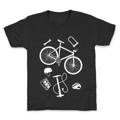 fixed gear cycling tools Kids T-Shirt