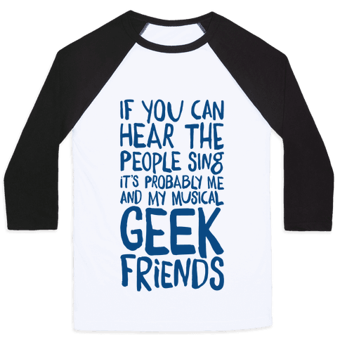 Miserable Musical Geeks Baseball Tee