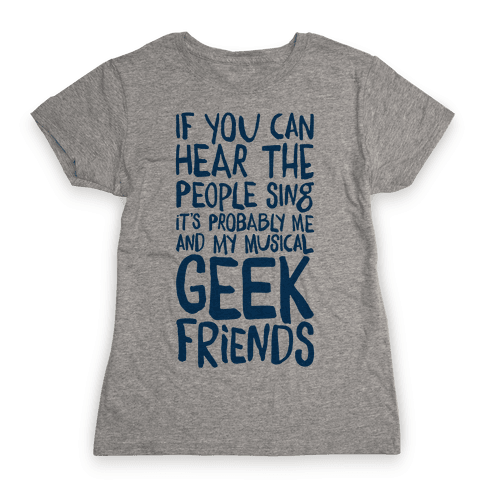 Miserable Musical Geeks Womens T-Shirt