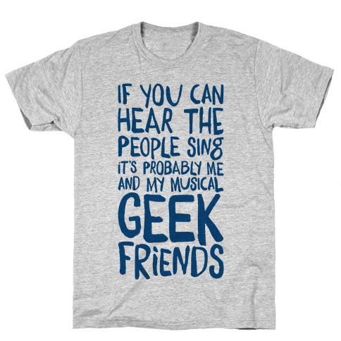 Miserable Musical Geeks Mens T-Shirt