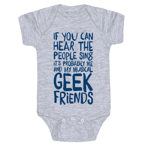 Miserable Musical Geeks Baby Onesy