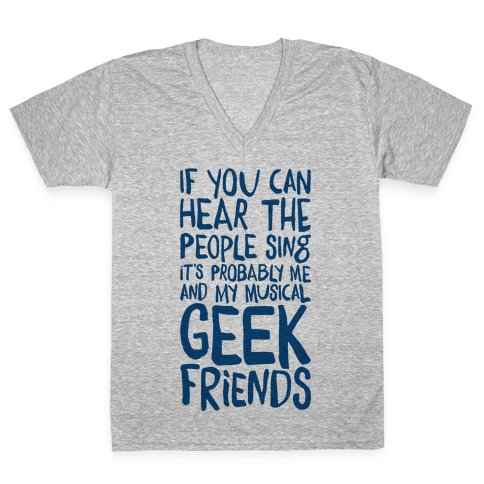 Miserable Musical Geeks V-Neck Tee Shirt