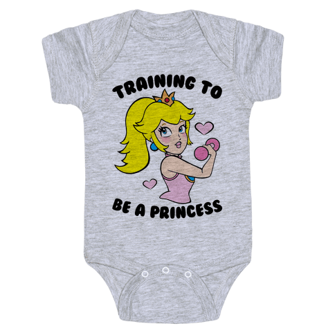 Training To Be A Princess Baby Onesy