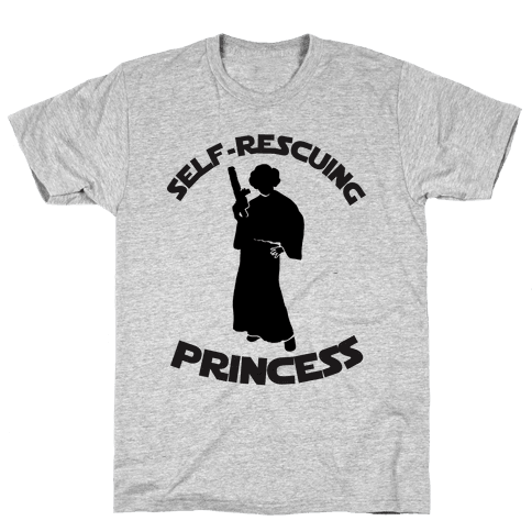 Self-Rescuing Princess Mens T-Shirt
