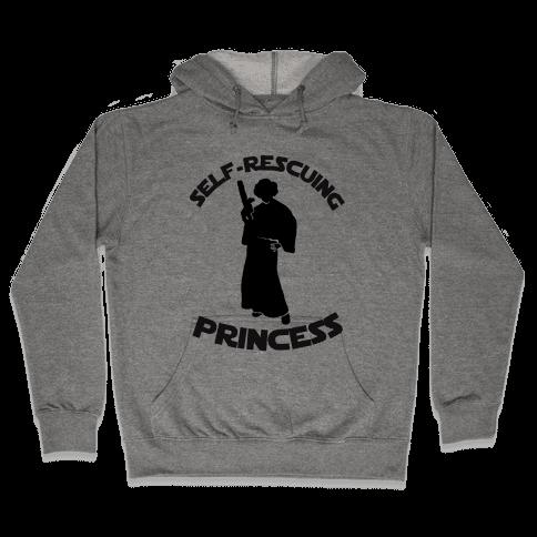 Self-Rescuing Princess Hooded Sweatshirt