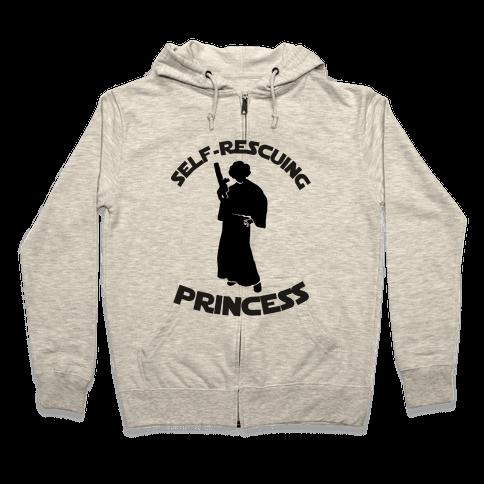 Self-Rescuing Princess Zip Hoodie