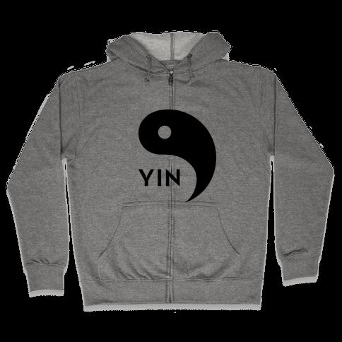 Yin Yang (Yin, Part 1) Zip Hoodie