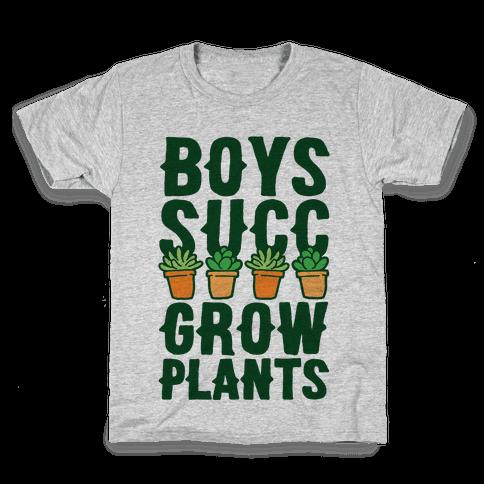 Boys Succ Grow Plants Kids T-Shirt