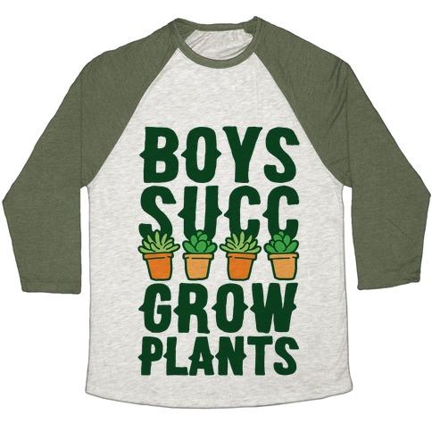 Boys Succ Grow Plants Baseball Tee