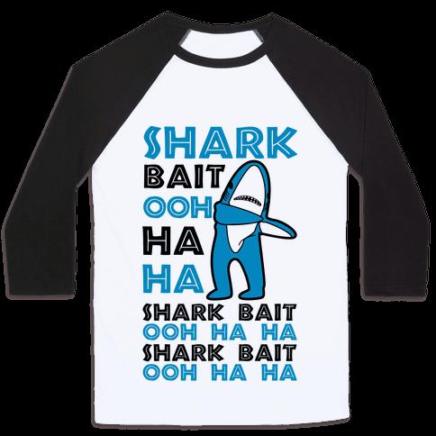Left Shark Bait Baseball Tee