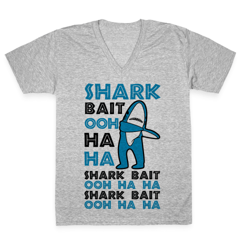 Left Shark Bait V-Neck Tee Shirt