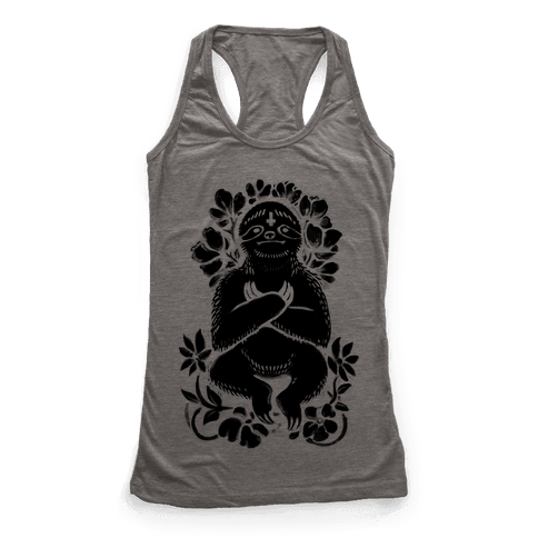 Sinful Sloth Racerback Tank Top