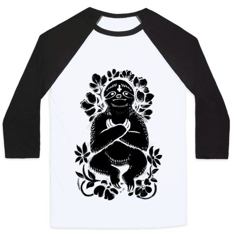 Sinful Sloth Baseball Tee
