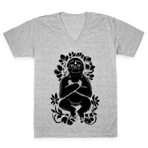 Sinful Sloth V-Neck Tee Shirt